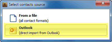 outlook direct import popup