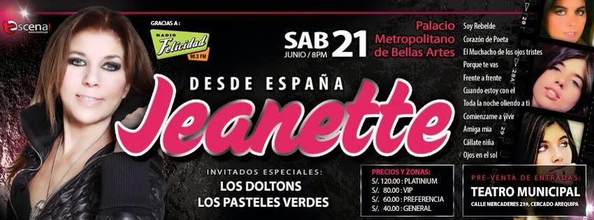Jeanette en Arequipa, concierto