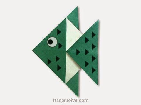 Cách gấp, xếp con cá cảnh nhiệt đới bằng giấy origami - Video hướng dẫn xếp hình sinh vật dưới nước - How to fold a Tropical Fish
