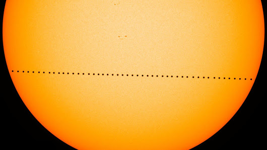Mars Passes Between The Earth And Sun