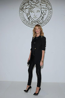 Celebrities style at Versace Fall Winter 2013-2014 Fashion Show