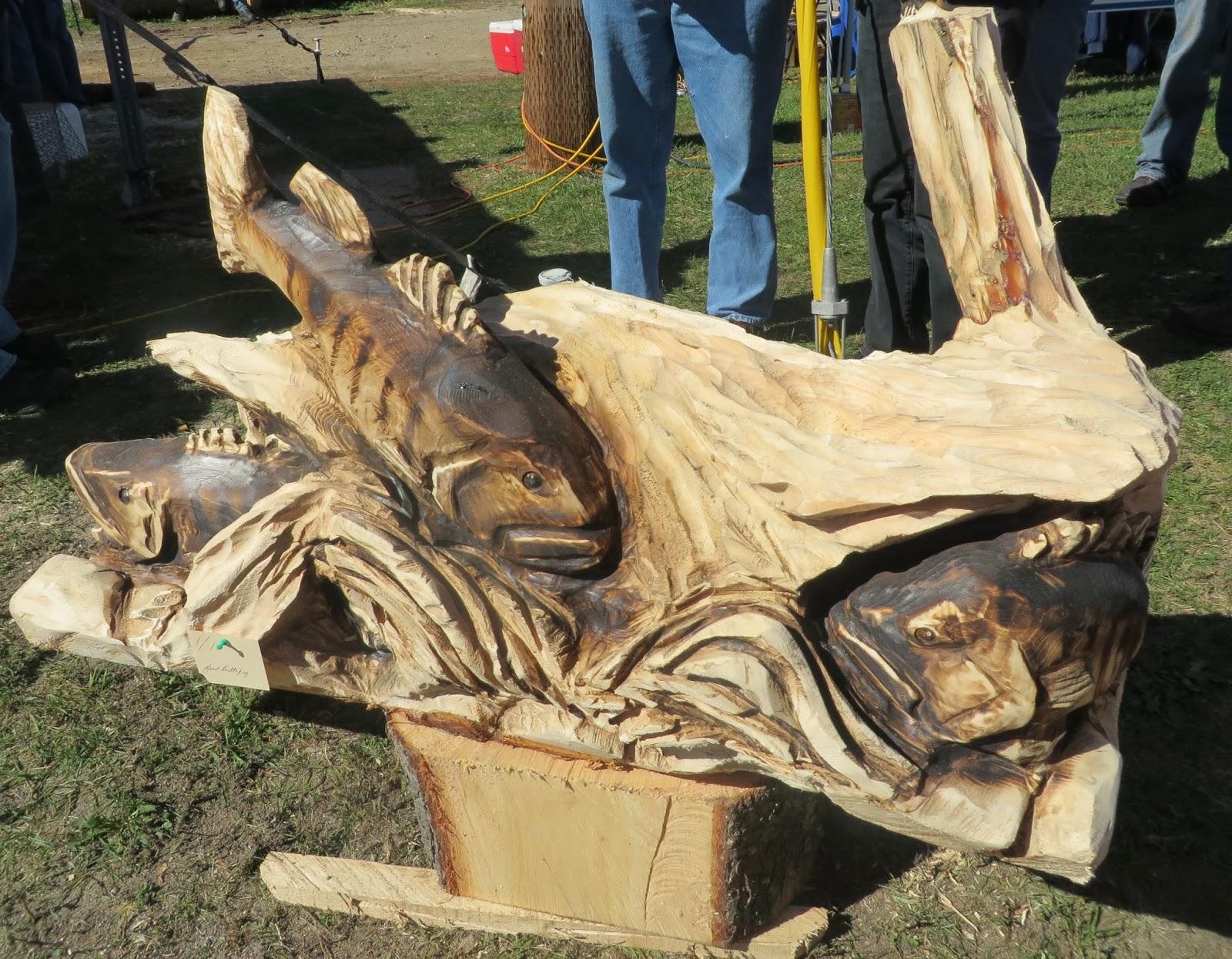 A man a plan a log a chainsaw bear sculptures the daily gazette