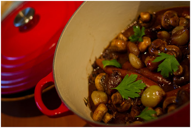 A photograph of Boeuf Bourguignonne