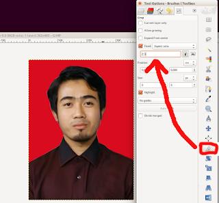 mengatur ukuran croping untuk cetak photo