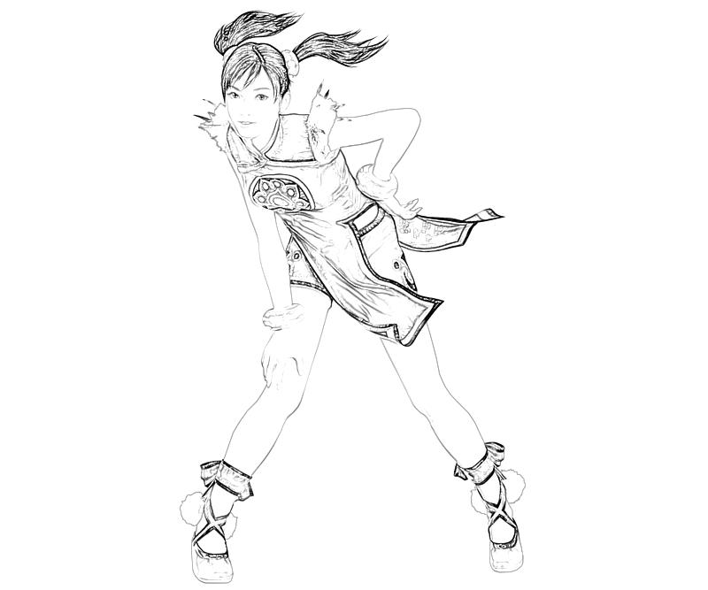 printable-tekken-ling-xiaoyu-action_coloring-pages