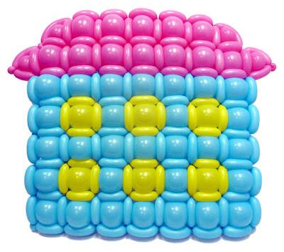 панно из воздушных шаров на выпускной утренник в детском саду