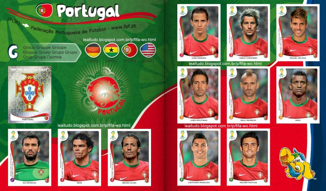 Album PORTUGAL Fifa World Cup BRAZIL 2014 LIVE COPA DO MUNDO Sticker Figurinha Download Lealtudo