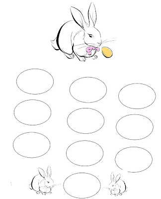 Line Drawing :: Clip Art :: Rabbit Game