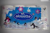 Toilettenpapier mit Pinguinen