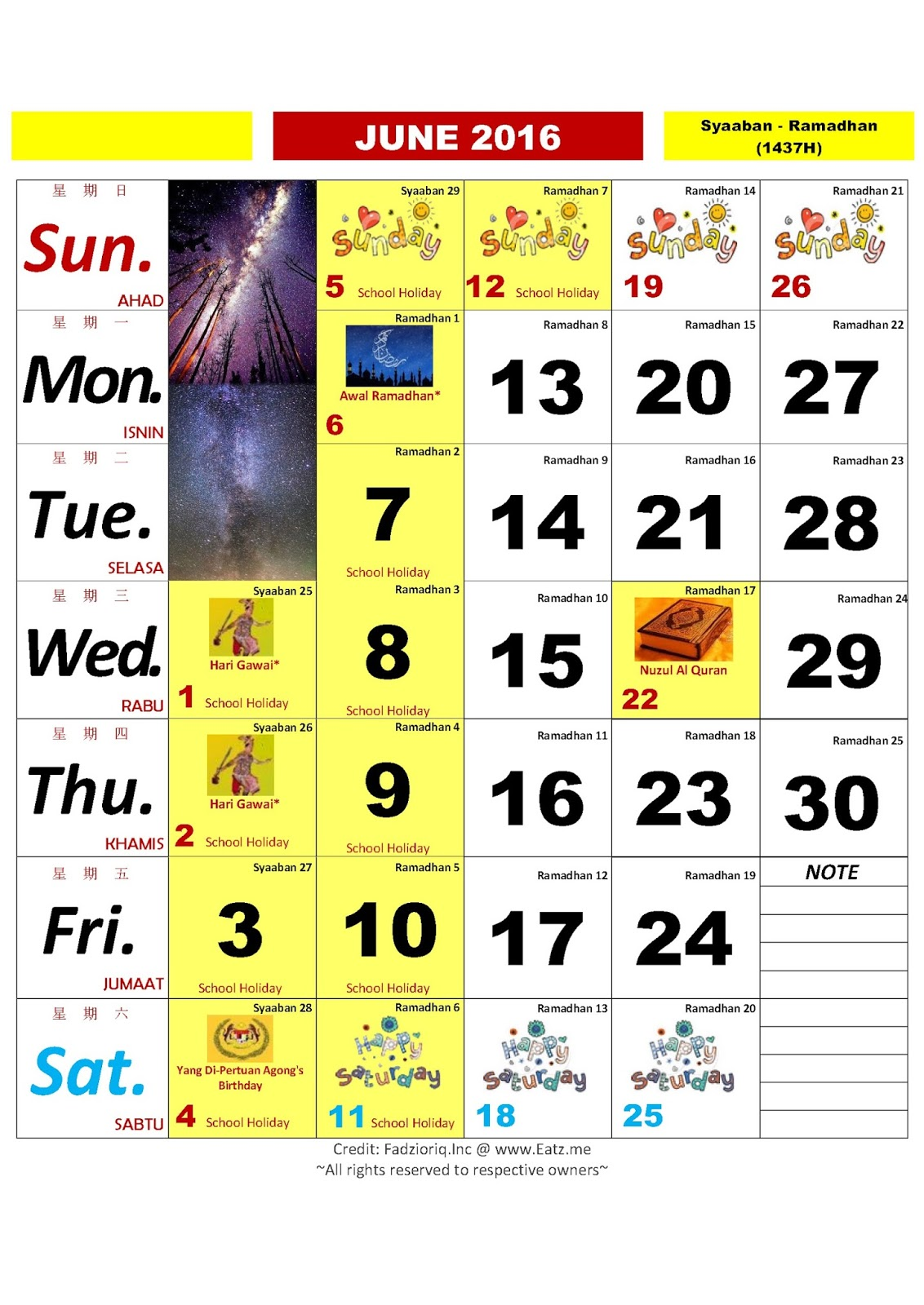 Kalender 2016 Malaysia Related Keywords & Suggestions - Kalender 2016 ...