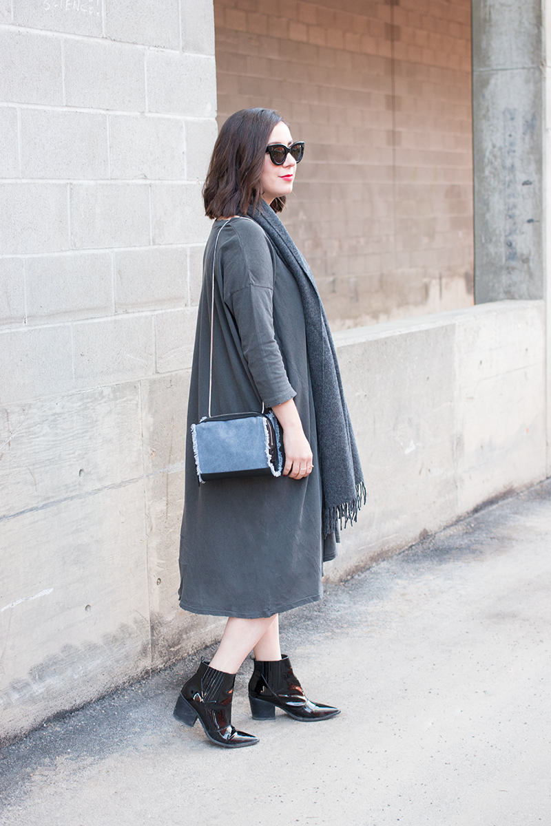 grey monochrome outfit
