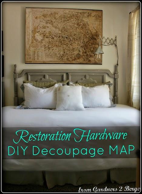 DIY [ Restoration Hardware ] Decoupage Paris Map