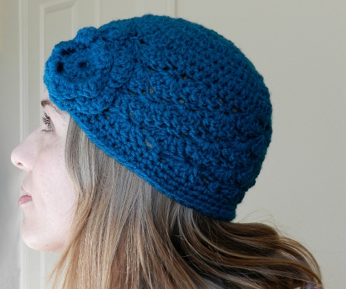 Grow Creative Blog: Shell Stitch Crochet Hat- Free Pattern