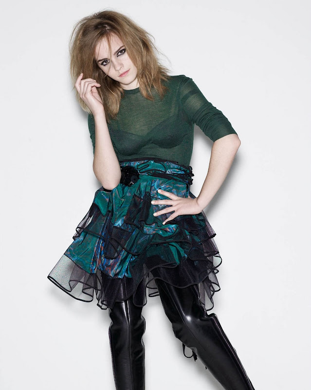 More than 700 new outtakes of Emma Watson for the Elle UK magazine in  title=
