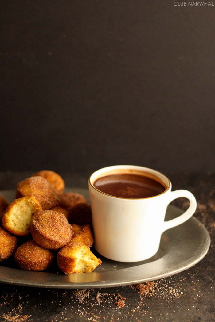 European Hot Chocolate | So thick it's practically fondue--perfect for dunking churros!