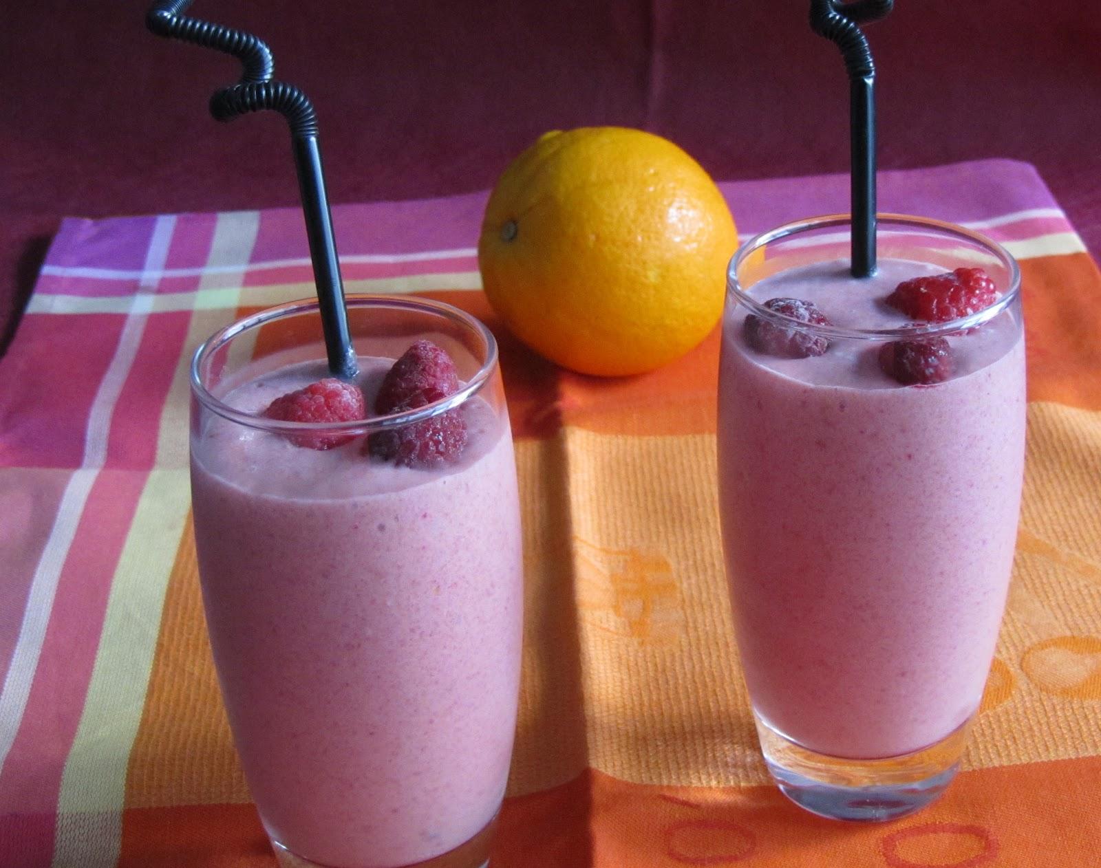 Batido de melocot n y frambuesa las recetas de marichu for Batido de frambuesa