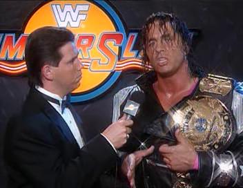 WWF / WWE - Summerslam 1994: Bret Hart gave a pre-match promo