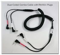 Dual Coiled Combo Cable RA Mini Plugs