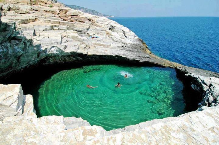Beautiful Places Around The Globe Natural Pool Thassos Island Greece