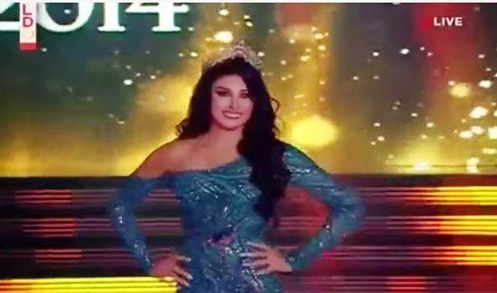 فيديو سقوط كارن غراوى ملكة جمال لبنان 2014 على المسرح