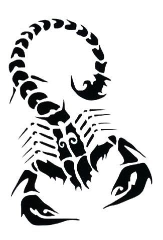 Tribal Scorpion Tattoo Designs