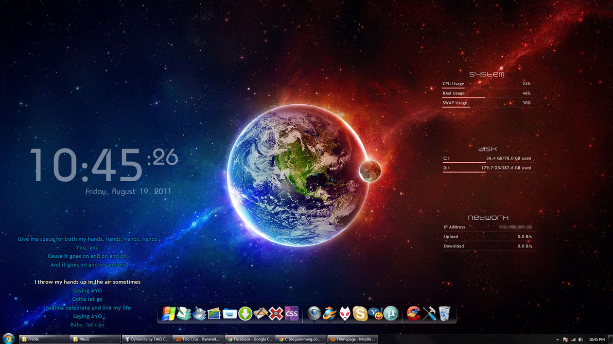 Fire and Ice Spacey Full Theme Free Download