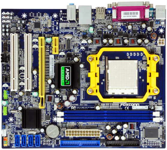 Megainfovendas  Placa M U00e3e Am2  Foxconn A6vmx