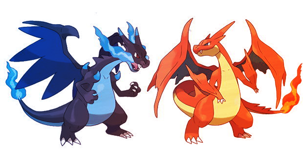 Mega Charizard in Pokemon X and Pokemon Y