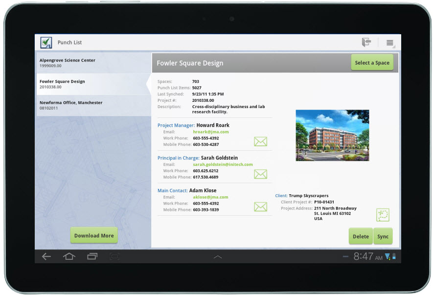 The Newforma Punch List Tablet App Why We Started With Android