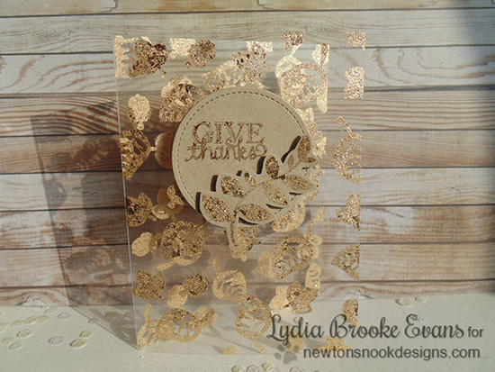 Gilded Gold Technique on Acetate by Lydia Brooke | Falling Into Autumn Leaf Stamp set by Newton's Nook Designs