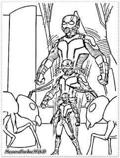 gambar ant man hitam putih
