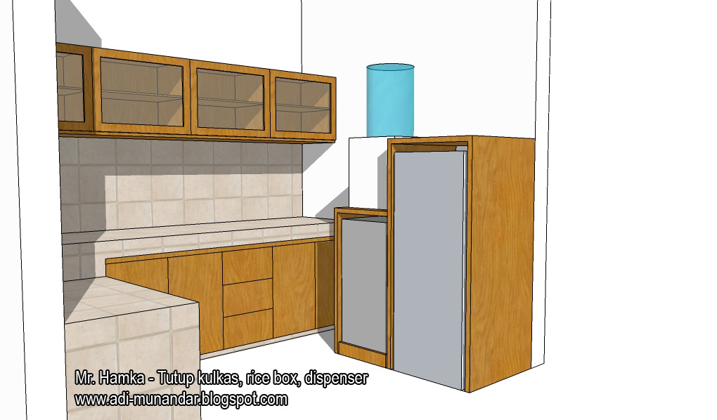 Furniture Kitchen Set untuk Meja Dapur Beton
