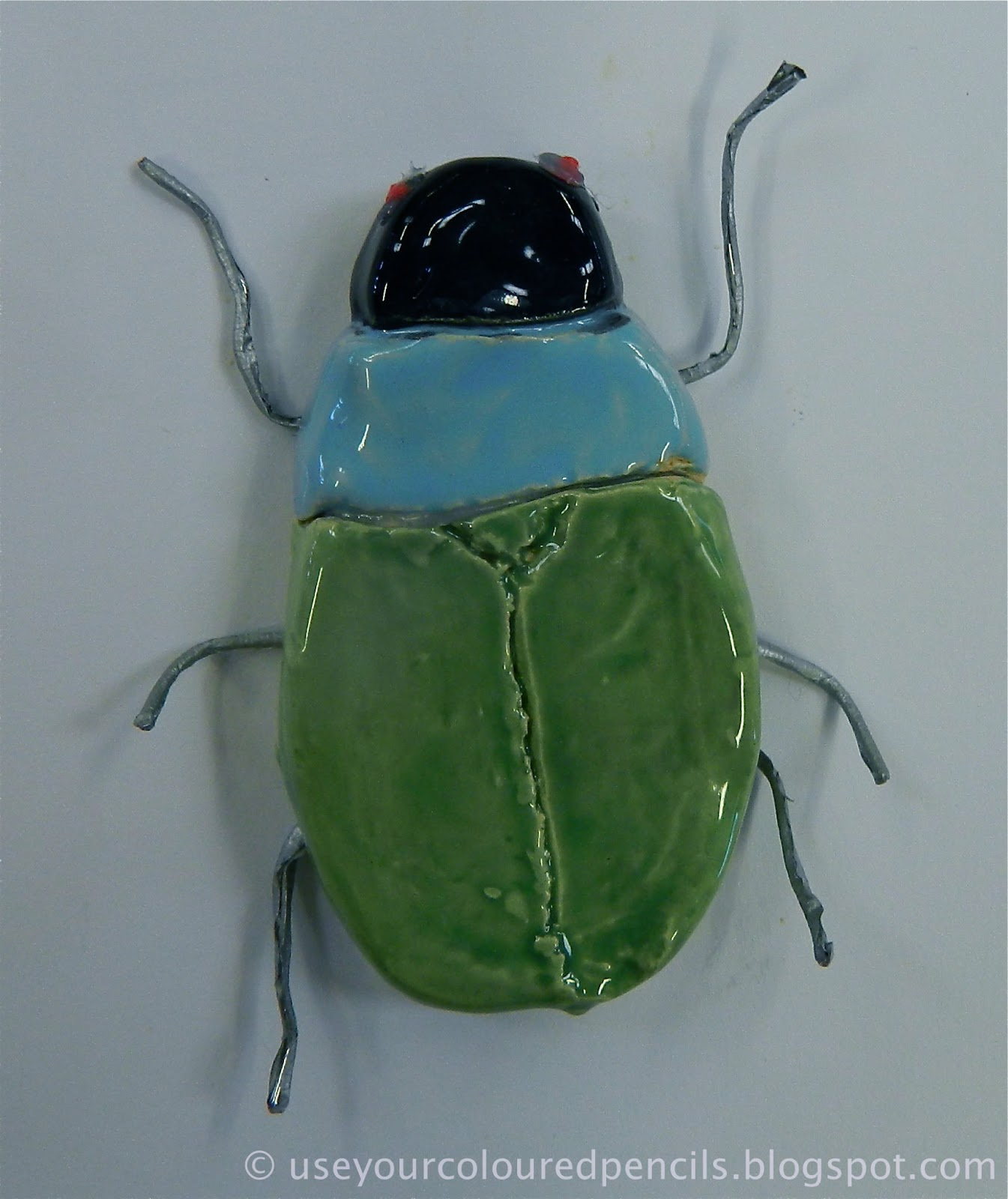 Use Your Coloured Pencils: Scarab Beetle Sculptures