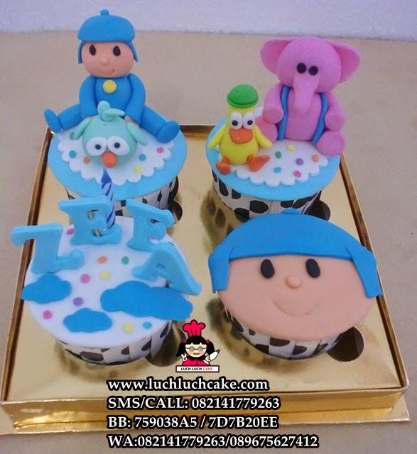 Cupcake Pocoyo Daerah Surabaya - Sidoarjo