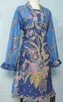 Dress Flora Biru