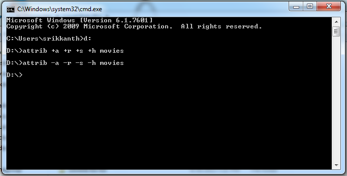 how to delete a folder through command