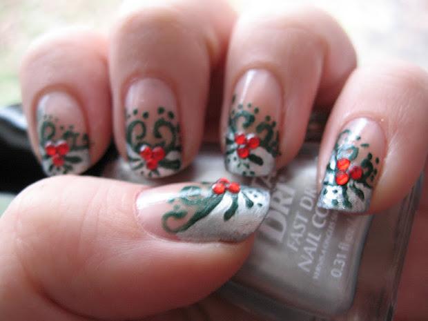 moondancerjen's nails pretty christmas