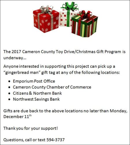 12-11 Cameron County Toy Drive/ Christmas Gift Program
