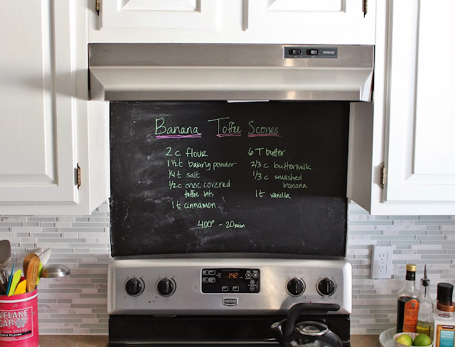 chalkboard back splash