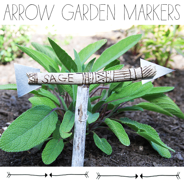 arrow garden markers