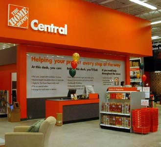 centralizing business home depot