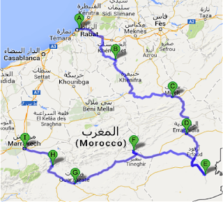 Ladies Caravan Morocco 2014 Ladies Caravan Morocco Road Map