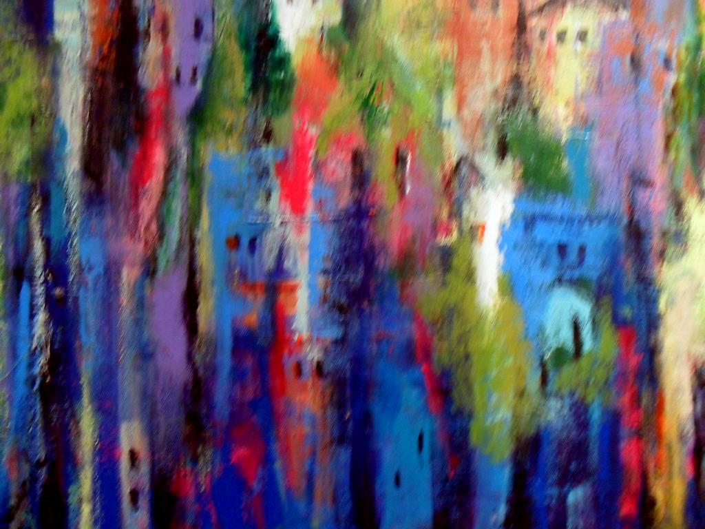 Empiece pintando abstractos hoy!
