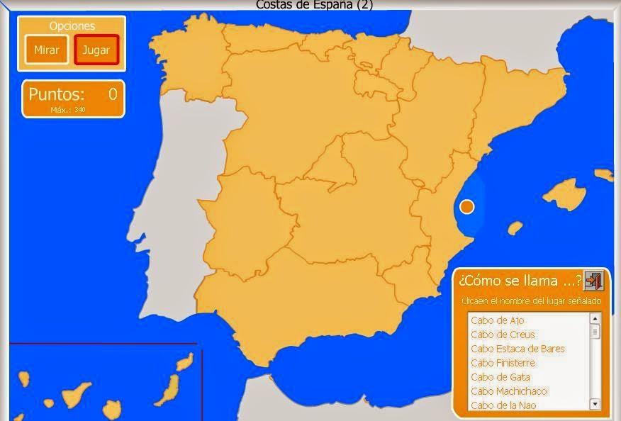 Juega con: Costas de España