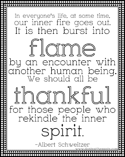 Thankful to the people who rekindle the inner spirit