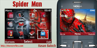 spider man c3 by hb Download Tema Nokia C3 Gratis