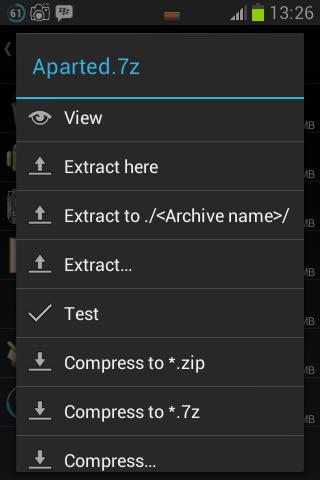 Cara mengekstrak file dengan ZArchiver