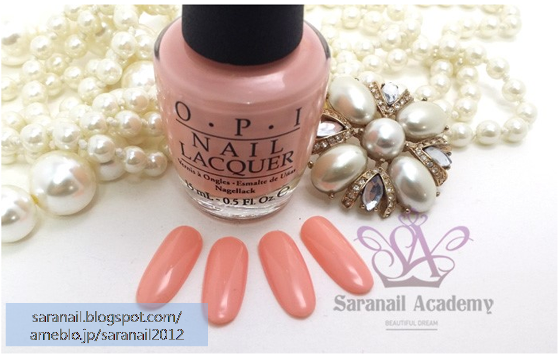 OPI NAIL LACQUER NL S81/ Peach Color Nail Polish/ Nude Beige Color Nail Polish/ Pink Color Nail Polish/ For Daily Nail Art