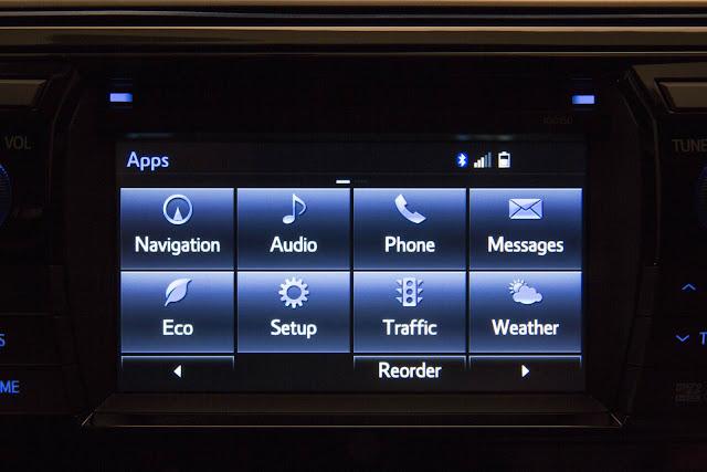 Novo Corolla 2014 - interior - sistema multimidia