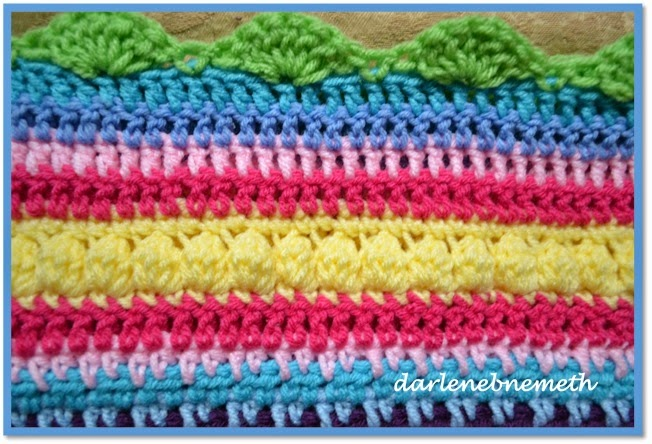 Crochet Stitches Sampler : Let It Shine: Crocheted Stitch Sampler Blanket